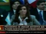 UNASUR mantuvo extensa reunión por intento de golpe en Ecua