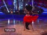 Brandy danse la Samba pour Dancing With The Stars