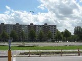 Amsterdam   avion ciel & gratte-ciel