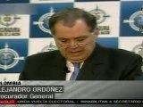 Ordóñez anuncia sanciones contra varios funcionarios por espionaje telefónico
