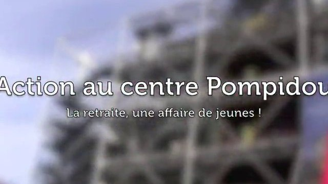 Action au centre Georges Pompidou !