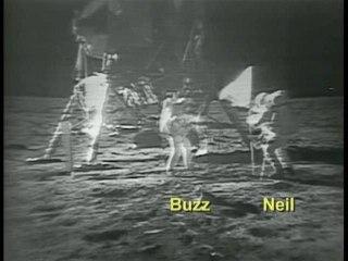 Vidéo restaurée des premiers pas sur la Lune