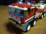7213 Le camion tout terrain et le bateau de pompiers