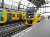 Amsterdam : arrivée train en gare