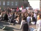 retraites : les lycéens dans la rue à Avranches - 12/10/2010