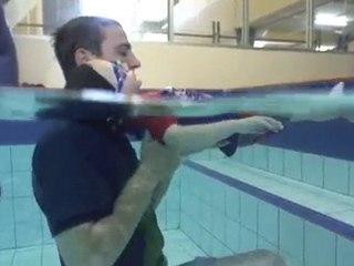 uSwim, level 2, skill 3, Back floating, swimming lessons
