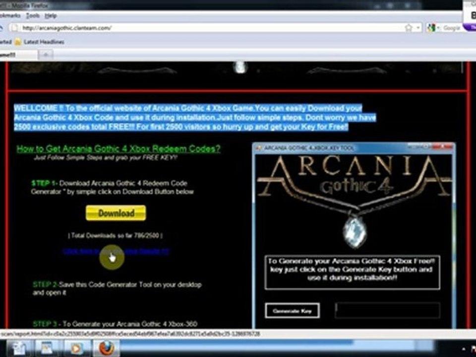 free codes arcania gothic 4