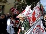 Le comité CGT chômeur à la manifestation pour les retraites