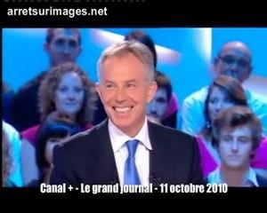 Tony Blair sur Canal+ - Oct 2010 (2/3)