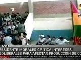 El cultivo de coca es un asunto político: Evo Morales