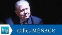 """La question qui tue Gilles Ménage """"Obéir aux ordres"""" - Archive INA"""