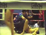 Thai boxing or Muay Thai from Chiang Mai Thailand