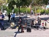 Musiciens à Barcelone (groupe O2)