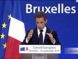 conférence de presse lors du Conseil européen extraordinaire
