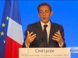 Le Président lance Ciné Lycée dans tous les lycées de France
