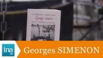 """Georges Simenon """"Longs cours sur les rivières et canaux"""" - Archive INA"""