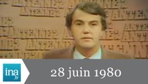 20h Antenne 2 du 28 juin 1980 - Guy Drut champion - Archive INA