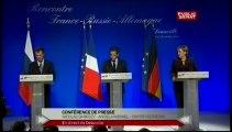 EVENEMENT,Rencontre A. Merkel, D. Medvedev et N. Sarkozy