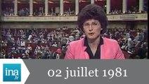 20h Antenne 2 du 02 juillet 1981 - Archive INA