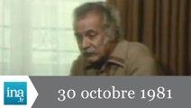 20h Antenne 2 du 30 octobre 1981 - Georges Brassens est mort - Archive INA
