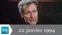 20h France 2 du 22 janvier 1994 - Mort de Jean-Louis Barrault - Archive INA