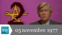 20h Antenne 2 du 05 novembre 1977 - tension au Sahara - Archive INA