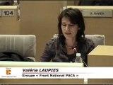 Valérie LAUPIES - explication de vote Conseil Régional PACA