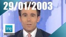 20h France 2 du 29 Janvier 2003 - Roland Dumas relaxé dans l'affaire ELF | Archive INA