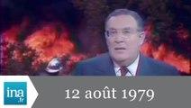 20h Antenne 2 du 12 août 1979 - Incendies dans le Var - Archive INA