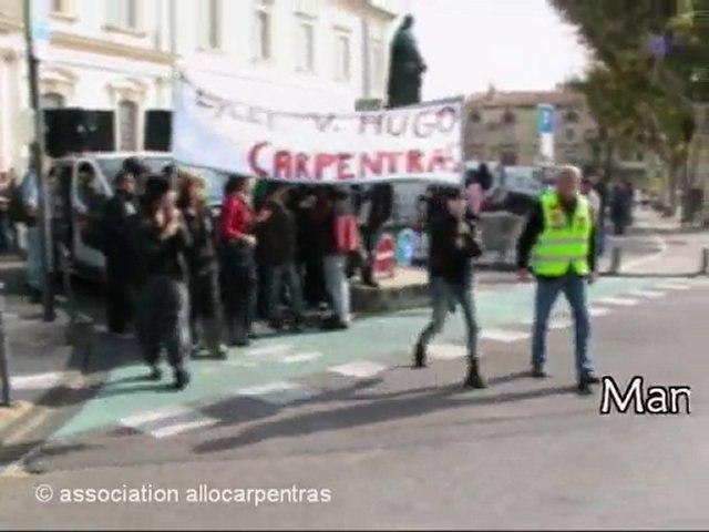 Manif des lycéen-nes Victor Hugo à Carpentras