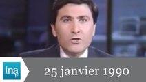 19/20 FR3 du 25 janvier 1990 - Tempête meurtrière en France - Archive INA