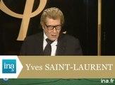 Les adieux d'Yves Saint Laurent - archive vidéo INA