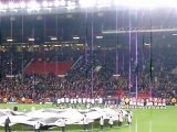 20-10-2010 : Old Trafford l'entree des equipes...