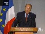 [Attentats Etats-Unis : déclaration de Jacques Chirac]