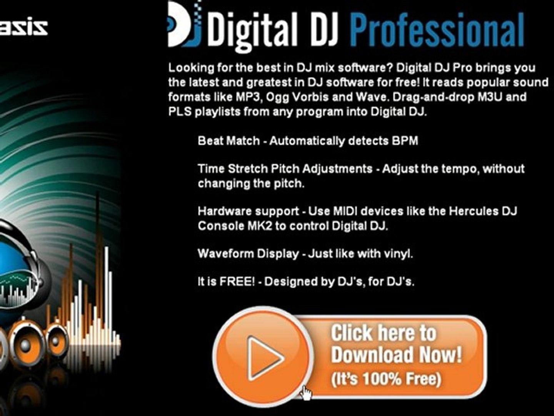 Digital-DJ-Pro-FREE-Mixing-Software-music-software