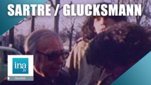 Jean-Paul Sartre et André Glucksmann manifestent devant l'ambassade d'URSS | Archive INA