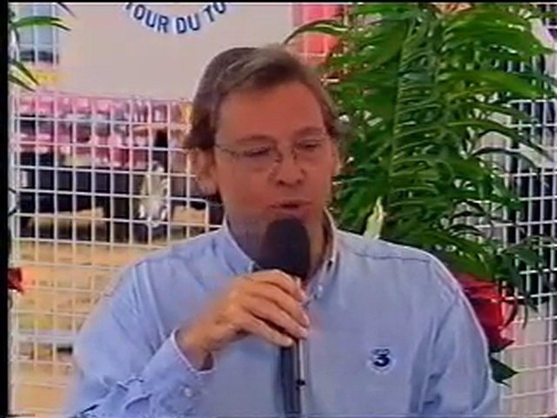 Bertrand Lefebvre et Alain Delon sur le Tour de France