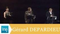 """Gérard Depardieu, Guillaume Depardieu et Carole Bouquet """"L'Histoire du soldat"""" - Archive INA"""