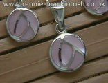 Sterling silver Charles Rennie Mackintosh necklace and earri