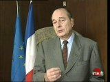 Réactions Chirac / Jospin - sonore
