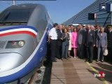 Chirac : inauguration TGV Méditerranée
