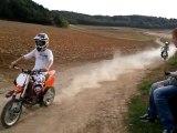 Course dirt 125cc (max) vs cross 65sx (marmotte)