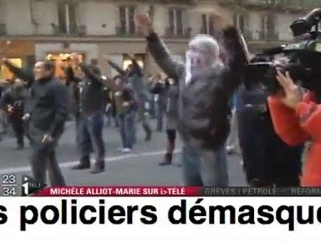 Quand des manifestants démasquent des policiers infiltrés !