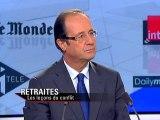 François Hollande - Dimanche soir politique - 31/10/2010
