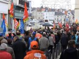 Ségolène Royal dans la manifestation à Chatellerault