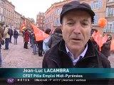 Grève et manifestation chez Pôle emploi en Midi-Pyrénées