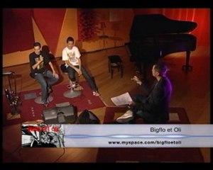 1ere télé pour Bigflo et Oli (12 novembre 2010) sur TLT (émission 100% Musique)
