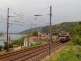 Train Marseille Lyon -BB22000 + corail ter - Serrières rive droite du rhône