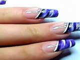 Nail art french manucure peinture / nail art french manicure painting