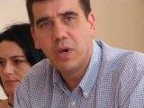 Martine Aubry 2012 : Yann Crombecque, conseiller régional, à la conférence de presse du 11 juillet à Lyon